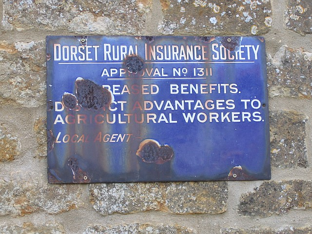 Old plaque at Nettlecombe