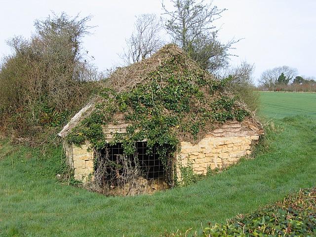 Tumbledown barn at Nettlecombe