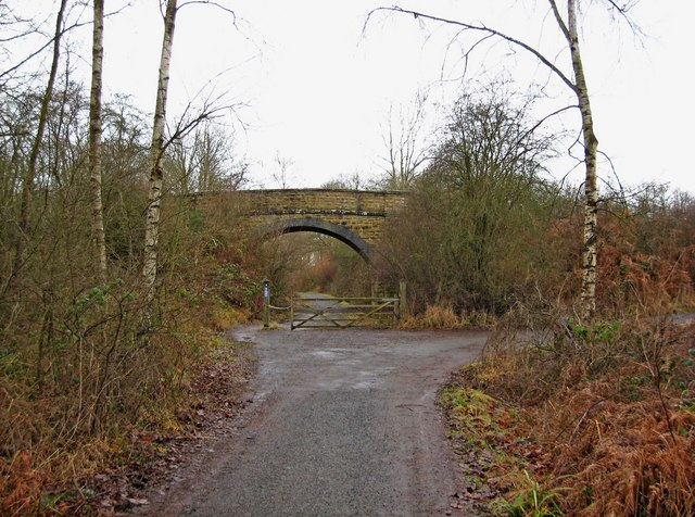 Converted railway line in the Wyre Forest