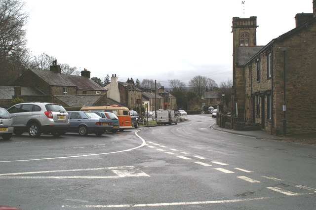 The village street from outside the Higher Buck