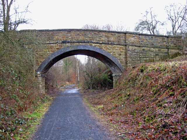 Bridge over converted railway line in the Wyre Forest