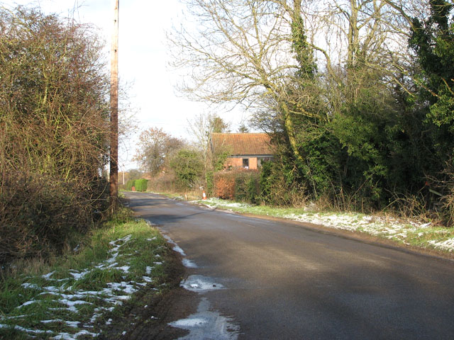 Upgate Road by Seething Airfield