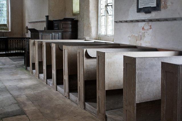 Oldbury-on-the-Hill St Arild's Church Interior