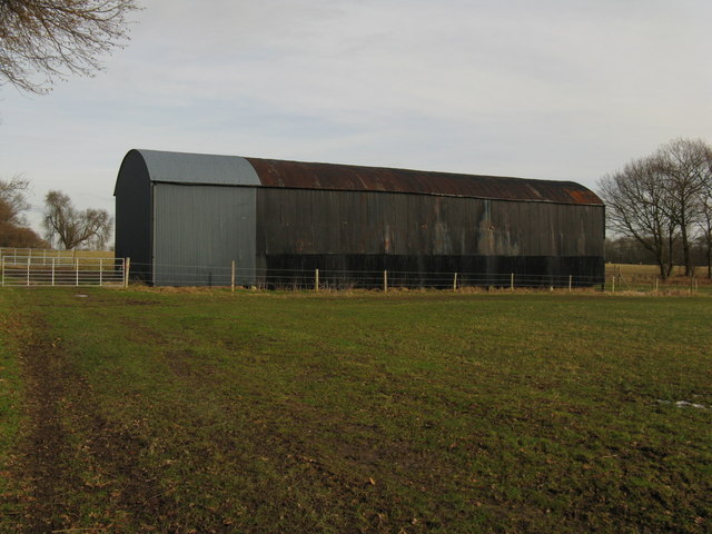 Large corrugated barn at Knowe Top Farm