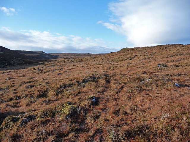 Moorland north of Cnoc an Sgùmain