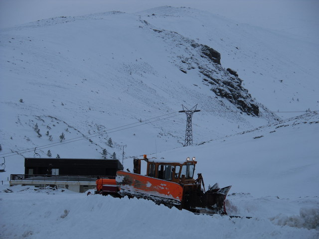 Snow Clearing at the Coire na Ciste Car Park