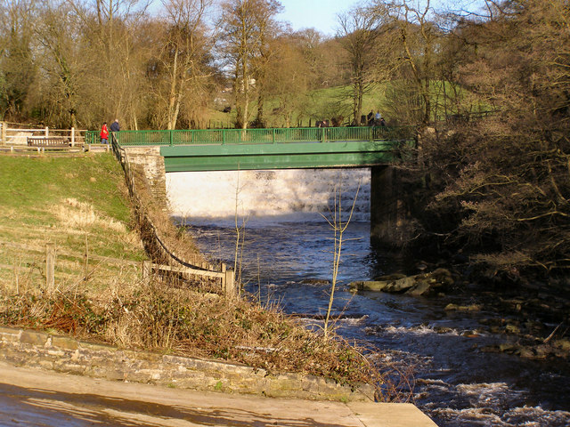 River Etherow, bridge and weir