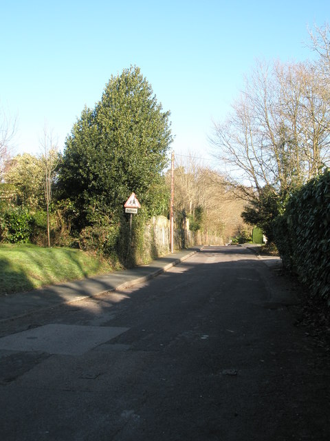 Looking northwards up Vicarage Lane