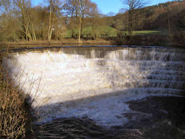 River Etherow, the weir