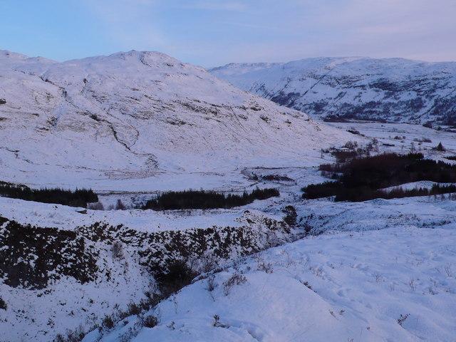 Gulley and slopes of Cnoc na h-Atha