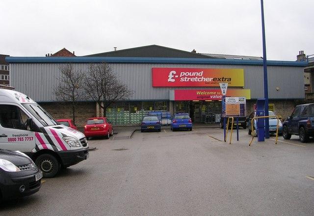 £ - pound stretcher extra - Cavendish Street Retail Park