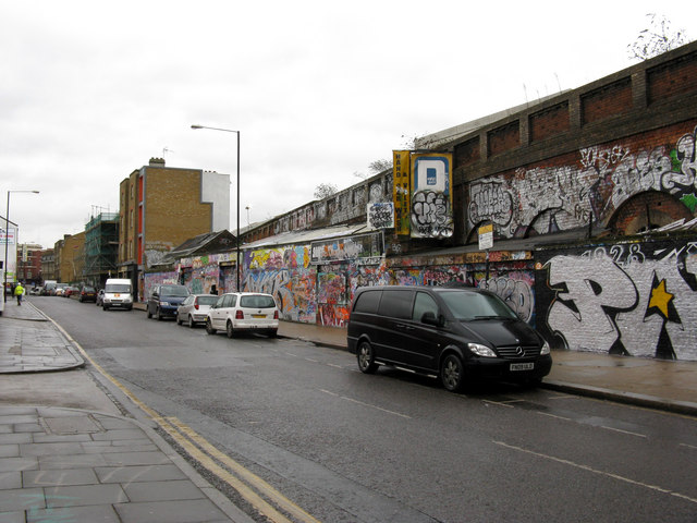 Shoreditch:  Sclater Street, looking east