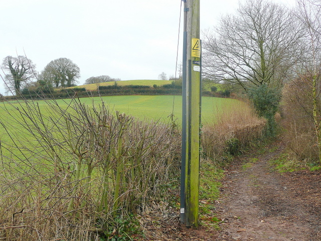 East Devon Way between Southerton and Burrow