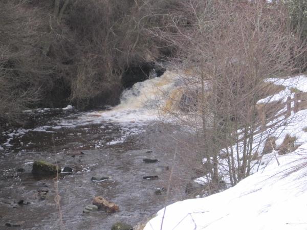 Lower Falls on Hareshaw Burn