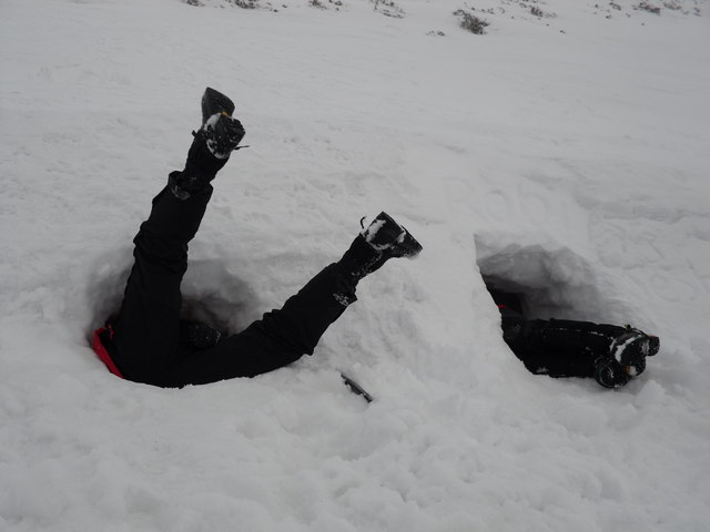 Digging out Snow Holes