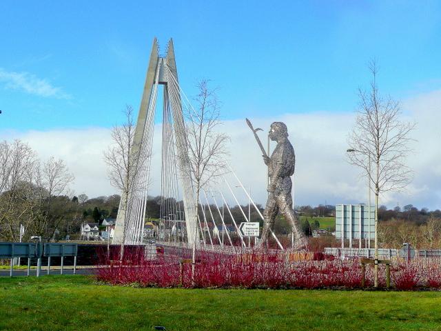 Chartist Statue and Bridge