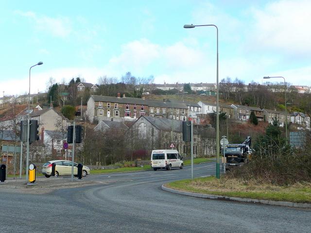 Main road junction at Crumlin