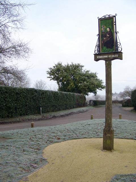 Village sign, Wimborne St Giles