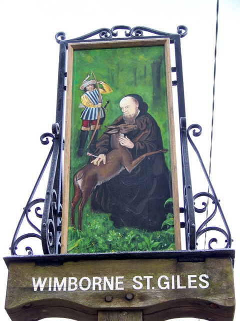 Village sign, Wimborne St Giles