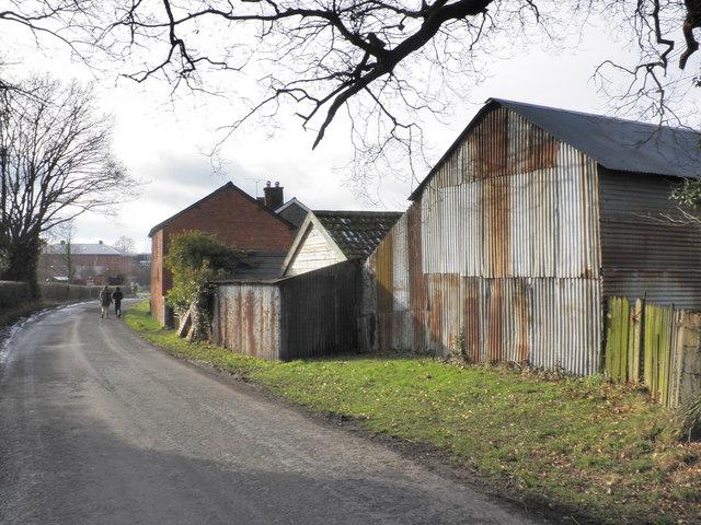 Corrugated iron barn, Weobley