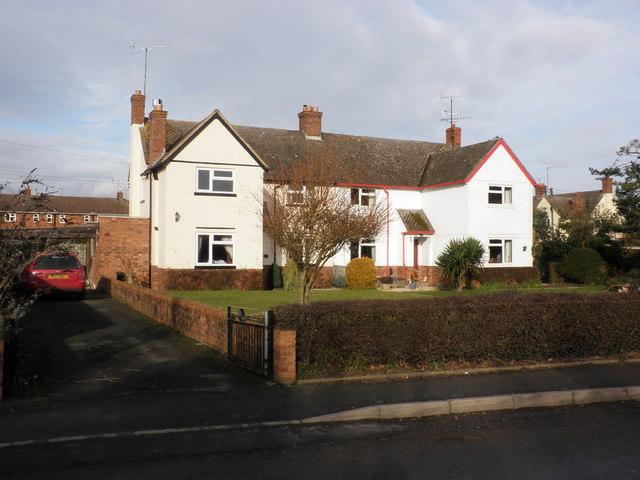 Semi-detached houses, Burton Wood, Weobley