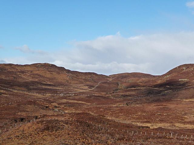Moorland west of Loch Dhughaill