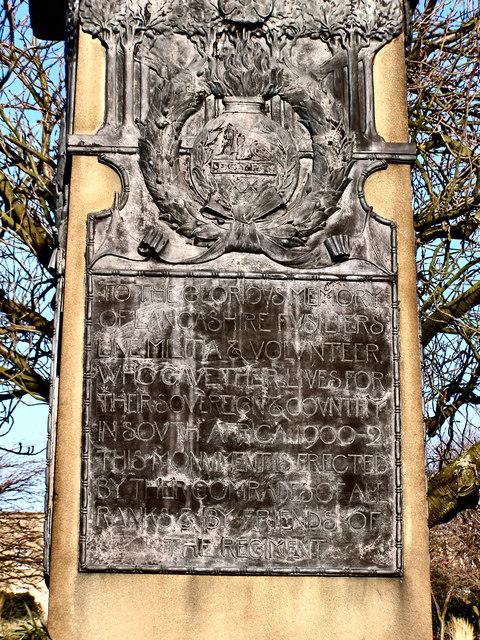 Lancashire Fusiliers War Memorial (detail)