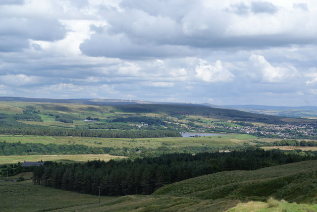 The descent from Winter Hill