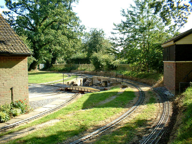 Track of miniature railway at Coate Water Country Park