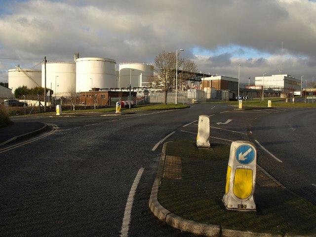 Cattedown fuel depot