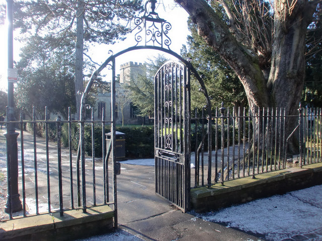 Entrance to St Andrew's Churchyard, Enfield