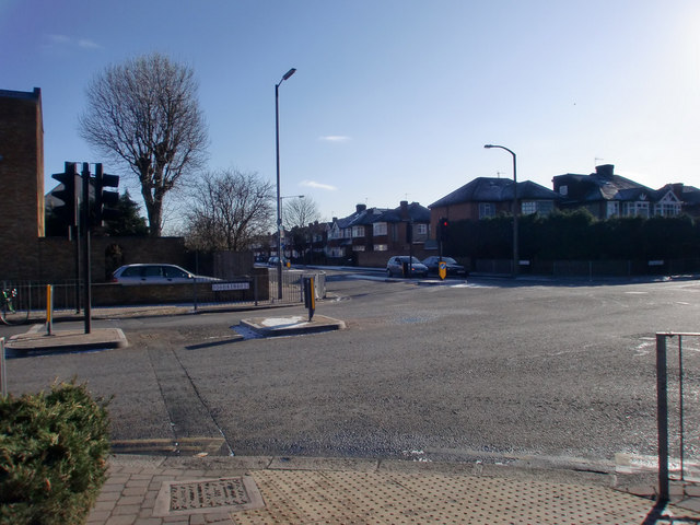 Junction of Baker Street and Parsonage Lane, Enfield