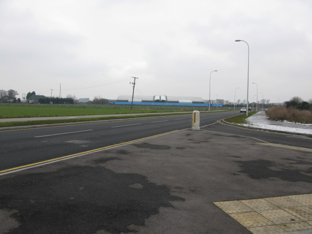 View towards the Westwood Cross development from new A256