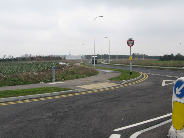 Looking N to Westwood Cross from the new A256