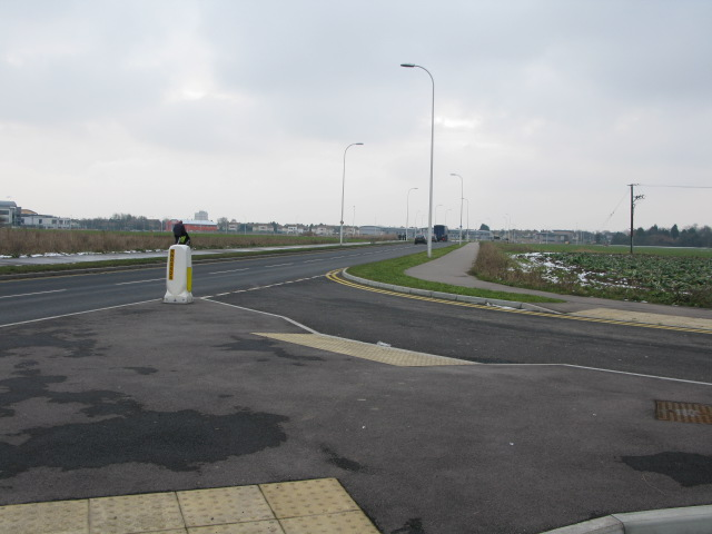 View along the new A256