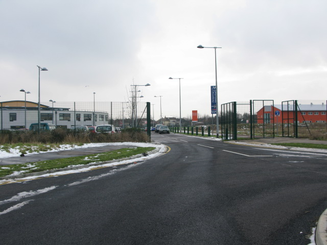 Entrance to the Marlowe Academy from the new A256