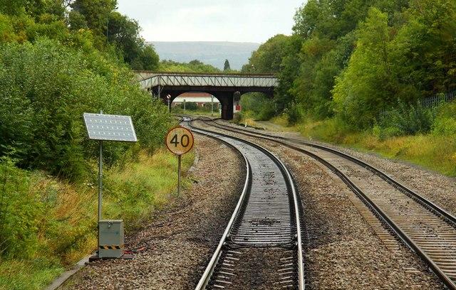 Approaching the Lansdown Road Bridge