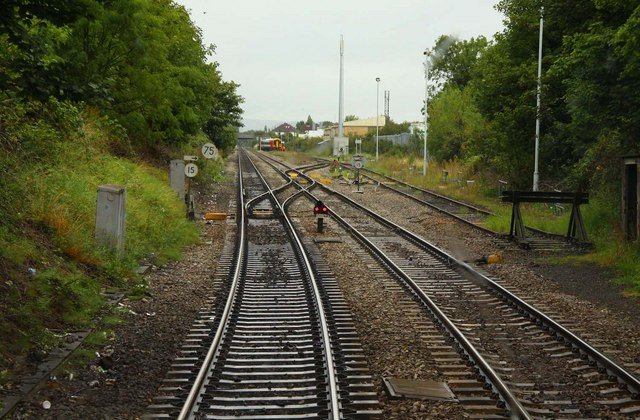 Points into Alstone Carriage Sidings