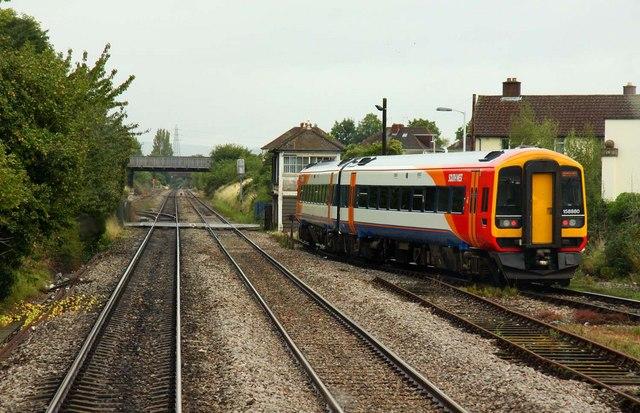 Coming up to Cheltenham Alstone Level Crossing