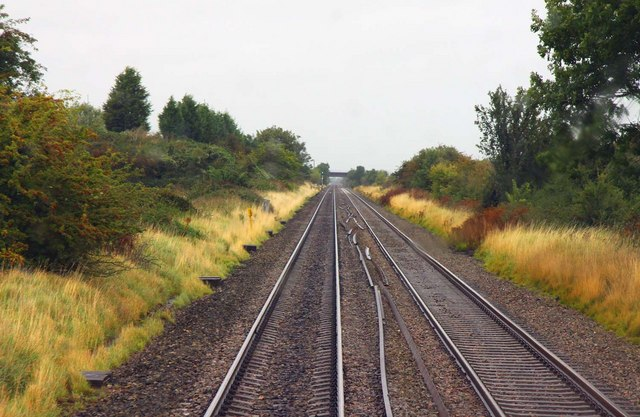 The railway line to Birmingham