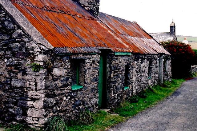 Cregneash Village - Village lane off  A31