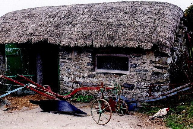 Cregneash Village - Church Farm thatched building