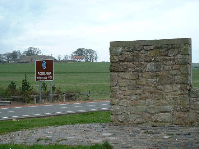 A1, England / Scotland Border