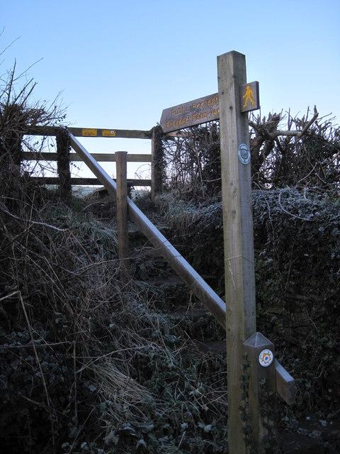 Public Footpath Sign to Prospect Farm Hardington Mandeville