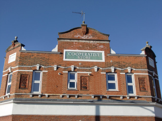 Facade of Co-operative Store, Baker Street, Enfield