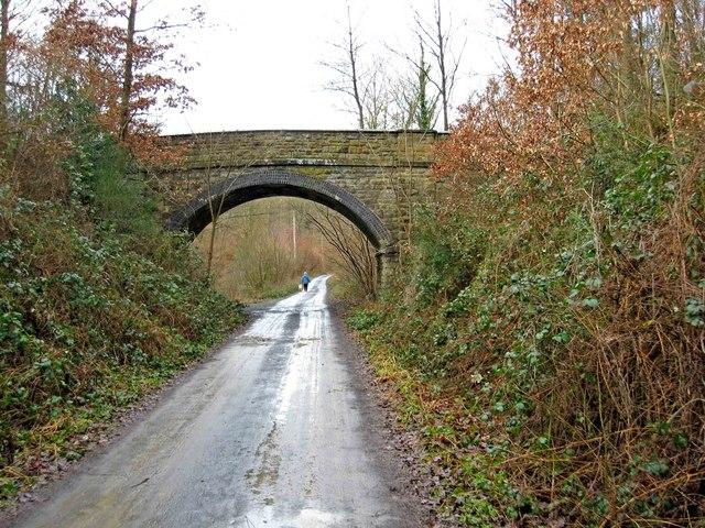 Bridge over former railway line in Wyre Forest