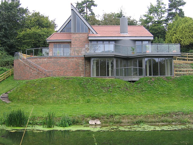Modern house overlooking the Stour