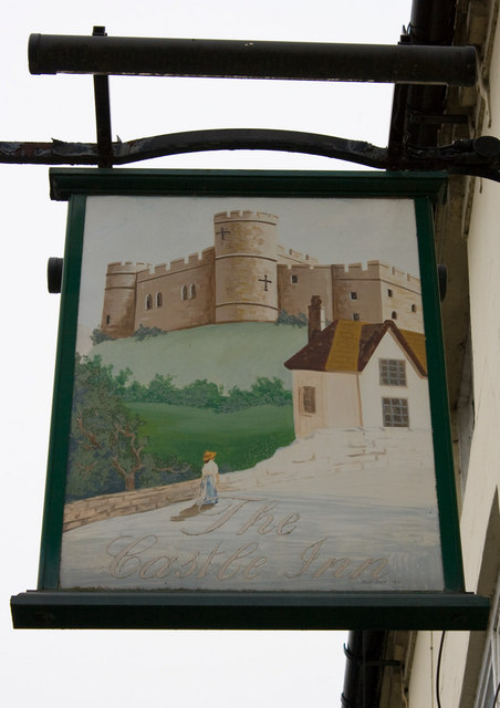 The Castle Inn, Coleham, pub sign