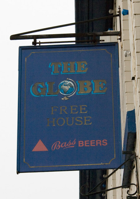 The Globe Inn, Coleham, pub sign