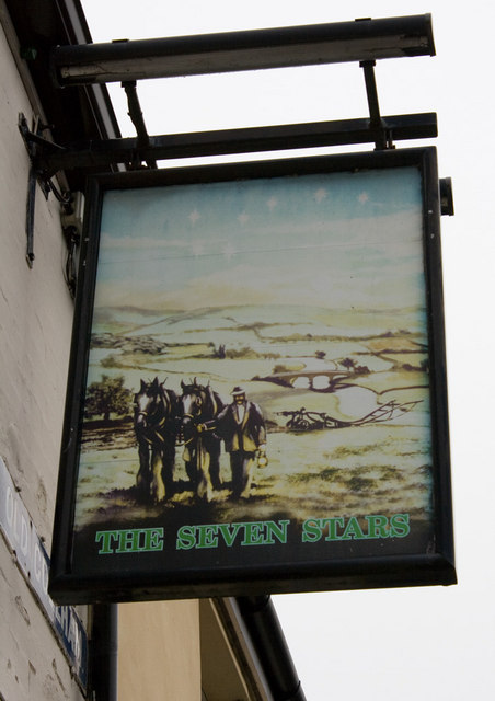 The Seven Stars, Old Coleham, pub sign
